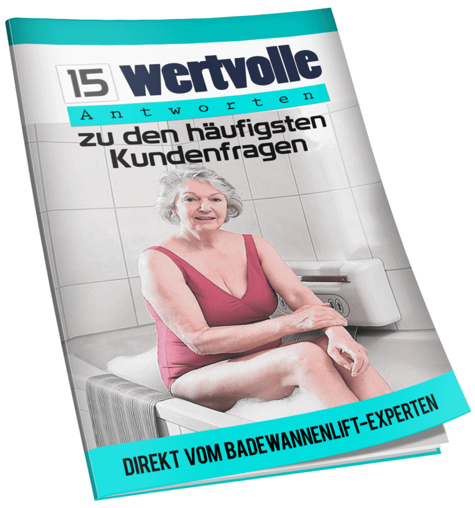 Cover of our ebook for bathtub lifts
